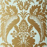 5003732 Montebello Damask Aqua by FSchumacher