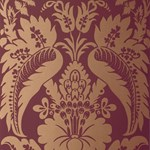 5003734 Montebello Damask Mahogany by FSchumacher