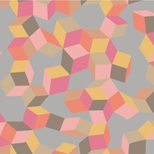 Pink and Orange Print Wallcovering by Cole & Son